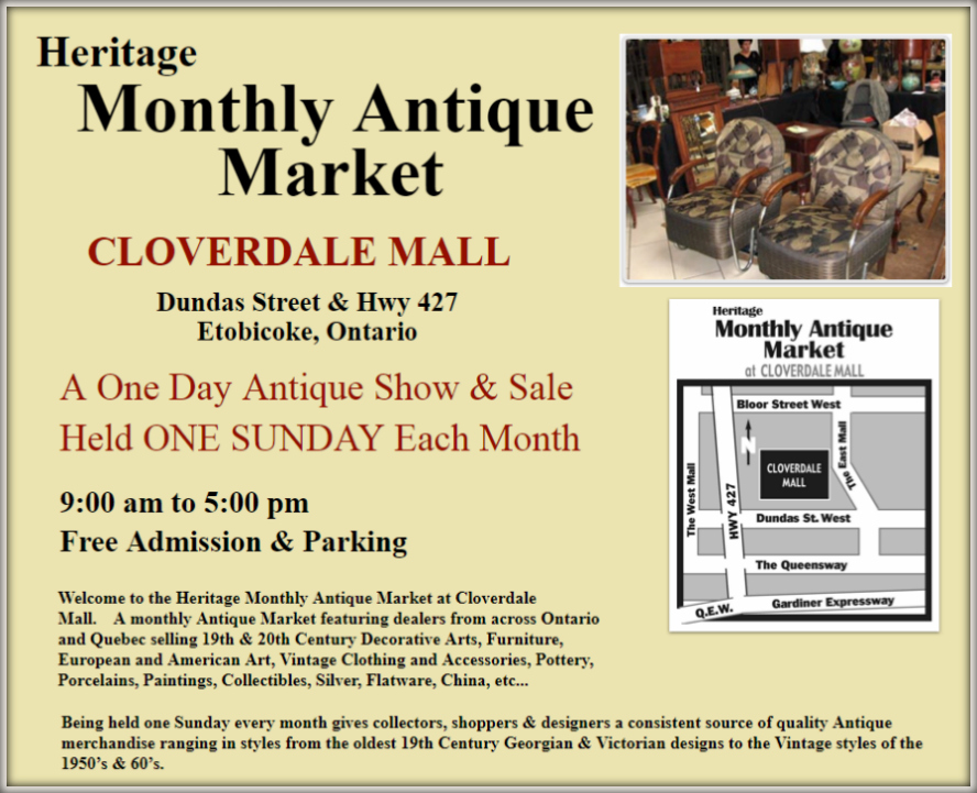 The Heritage Monthly Antique Market at Cloverdale Mall