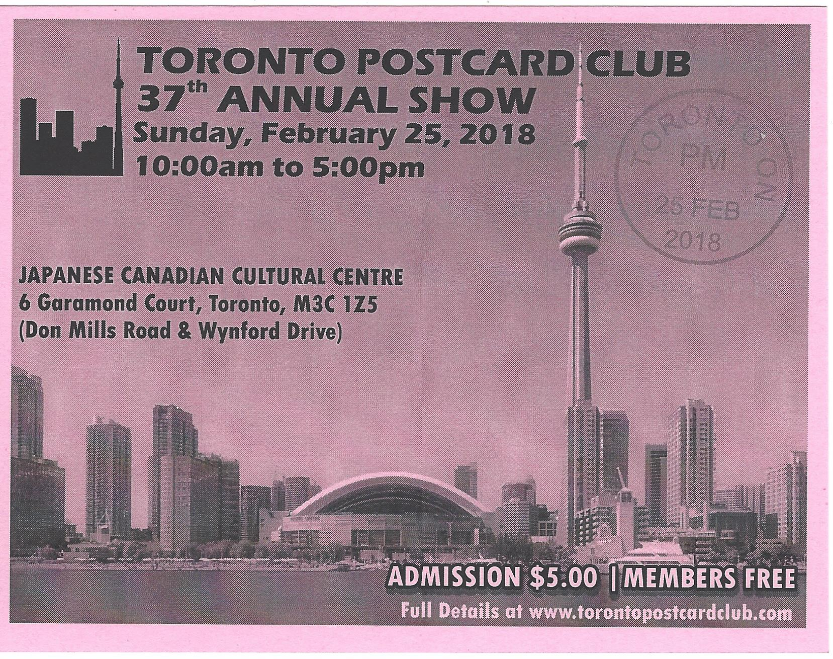 Toronto Postcard Club 38th Annual Show