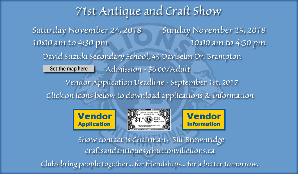 Huttonville 71st Craft & Antique Show