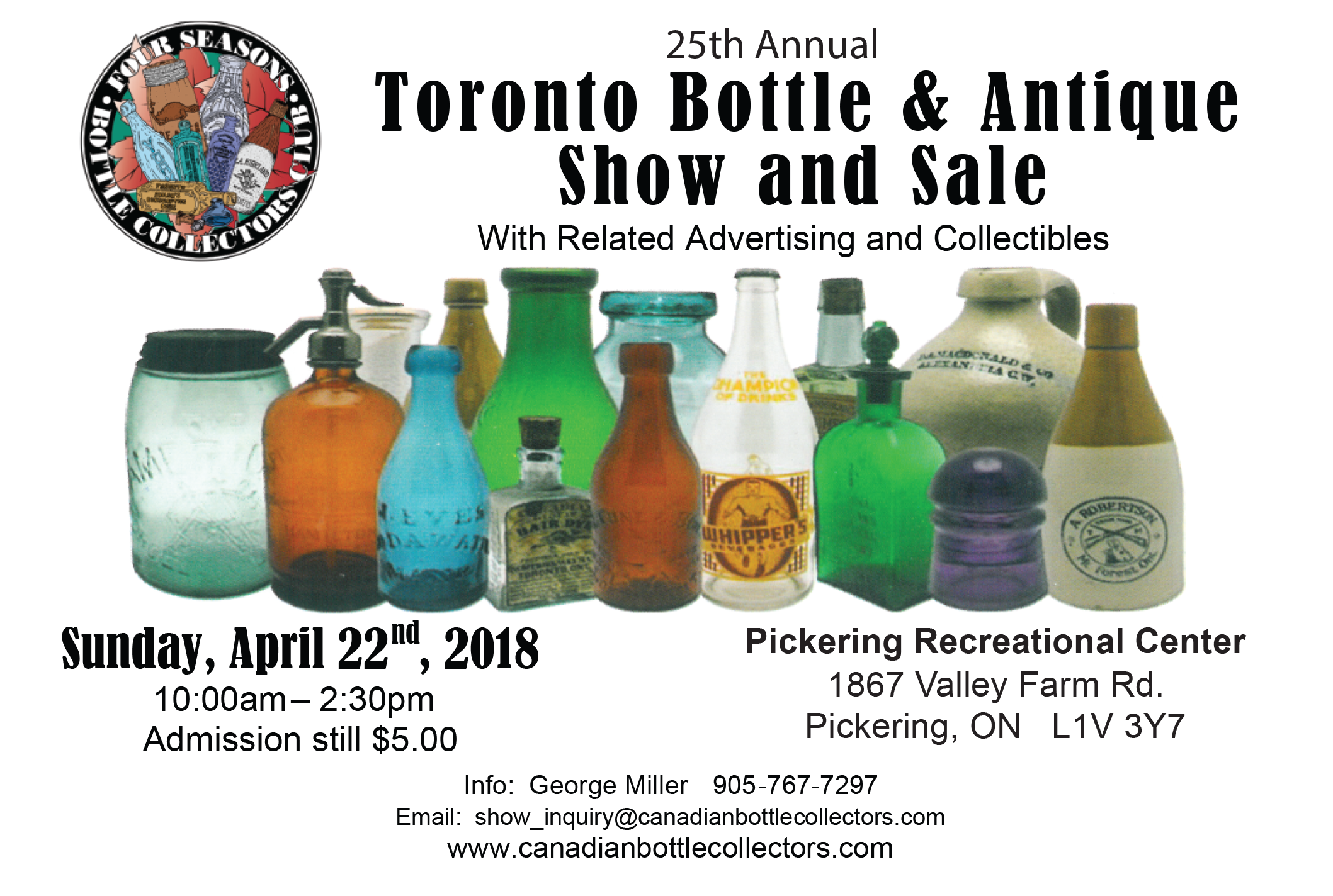 26th Annual Toronto Bottle and Antique Show and Sale
