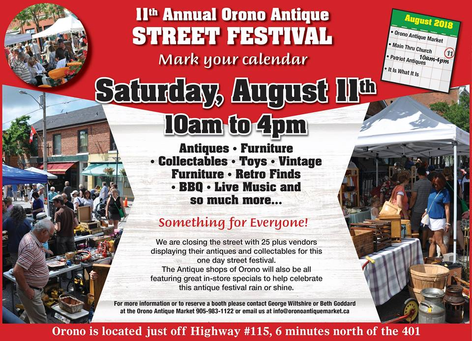 11th Annual Orono Antique Street Festival