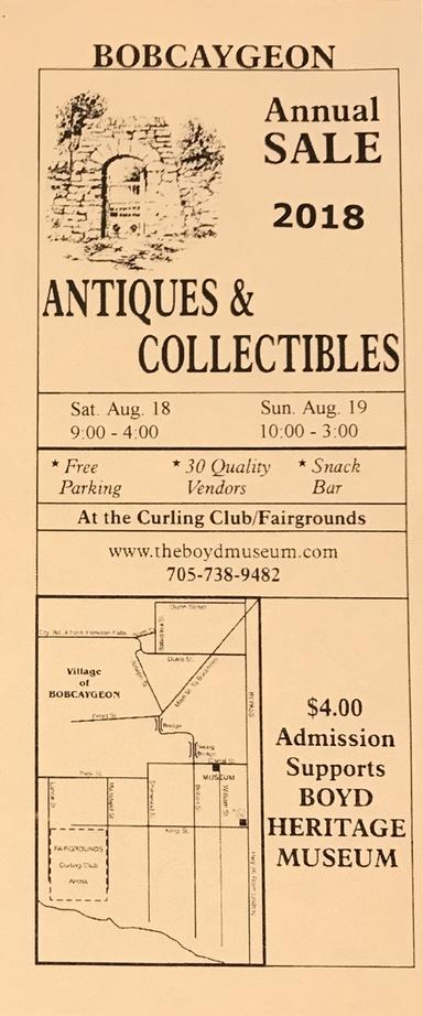 Bobcaygeon 17th Annual Antiques and Collectibles Sale